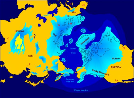 Смещение полюсов в истории Земли