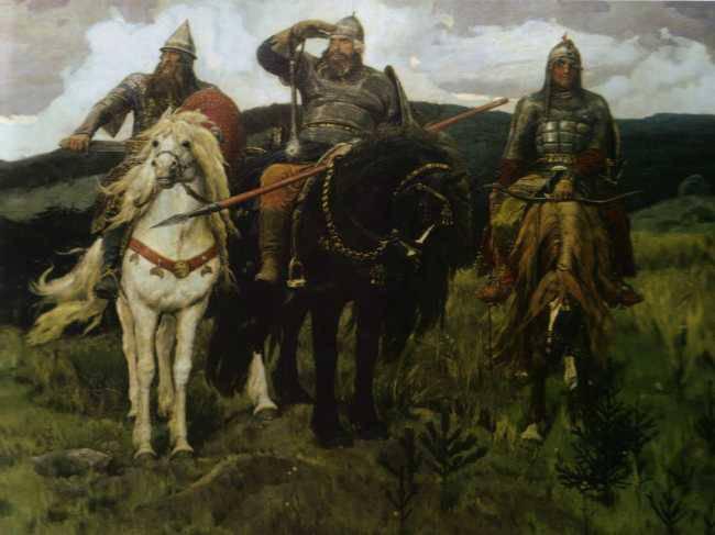 Картина богатыри три богатыря 1898