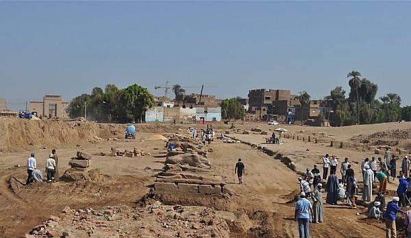 В Египте обнаружена ещё одна аллея сфинксов