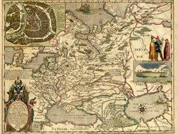 Карта юга России.  Крым.