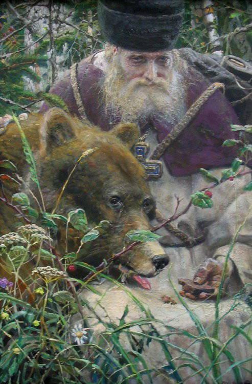 """И самое козырное:  """"Преподобный Сергий с медведом """": - тут"""
