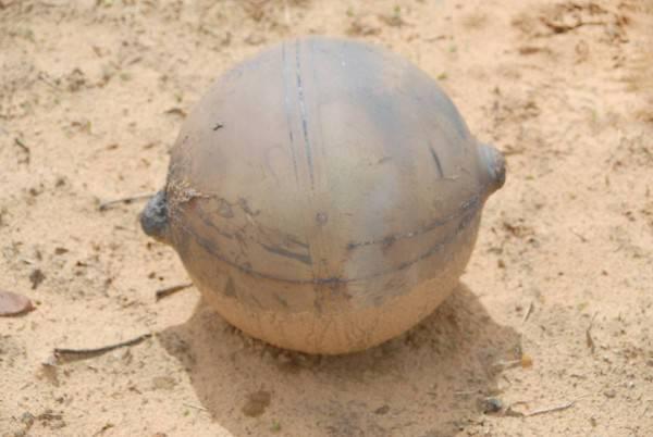 Космический шар упал недалеко от африканской деревни