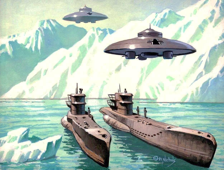 Тайный след НЛО в Антарктиде!