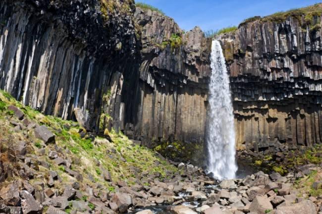 Водопад свартифосс исландия