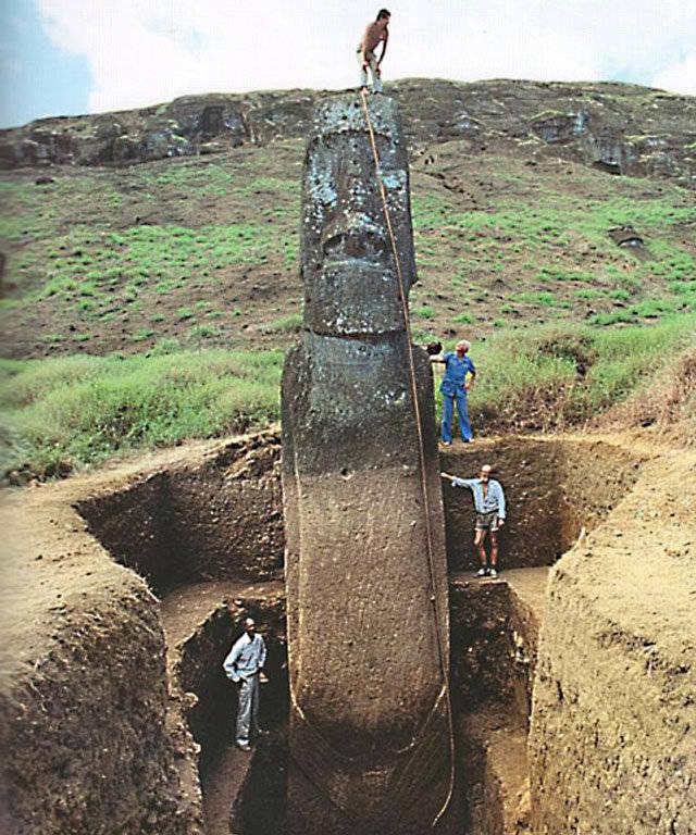 У древних скульптур с острова Пасхи обнаружились ноги