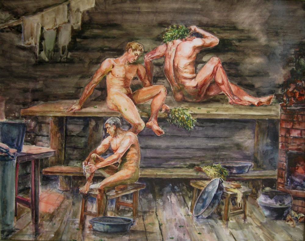 Сочная в бане 1 фотография