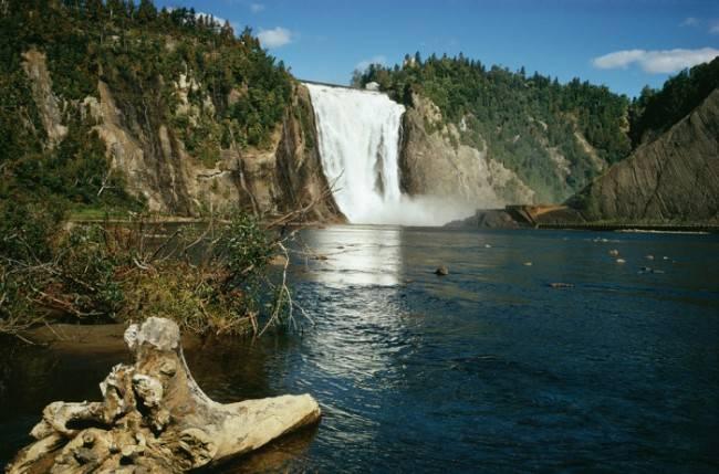 Водопад монморанси квебек канада