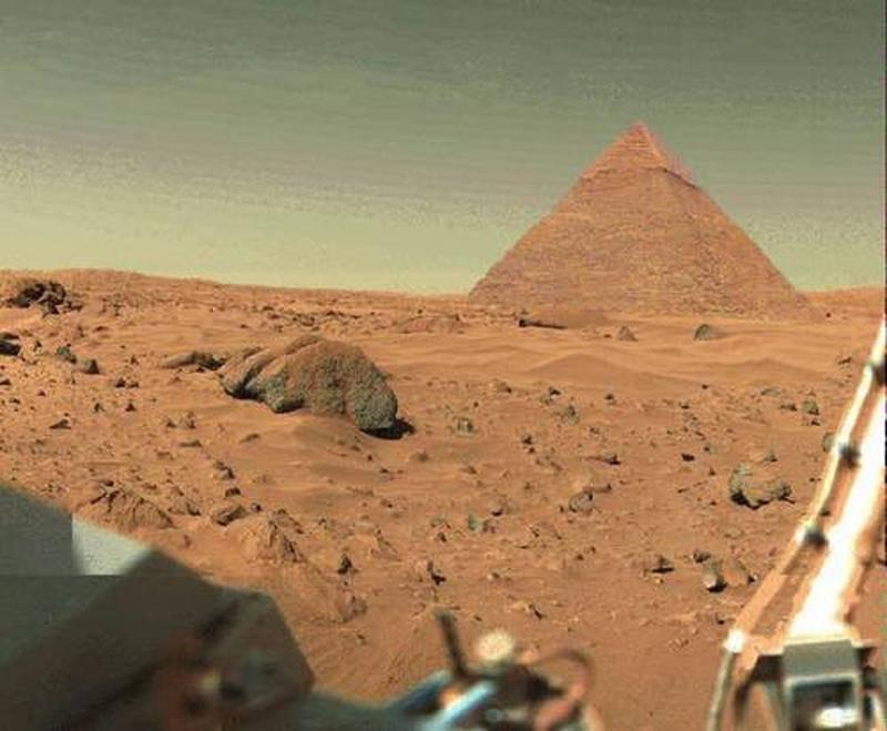 На Марсе обнаружили пирамиду