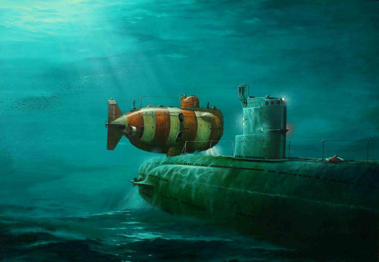 спасение моряков из затонувшей подводной лодки