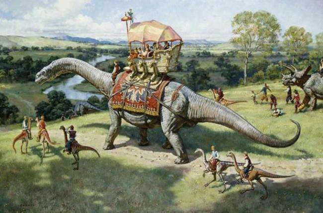 Динозавры с людьми сосуществовали вместе?