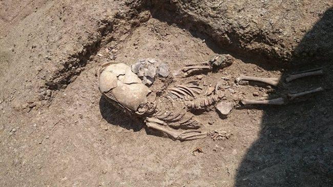 В Крыму обнаружили останки младенца-пришельца