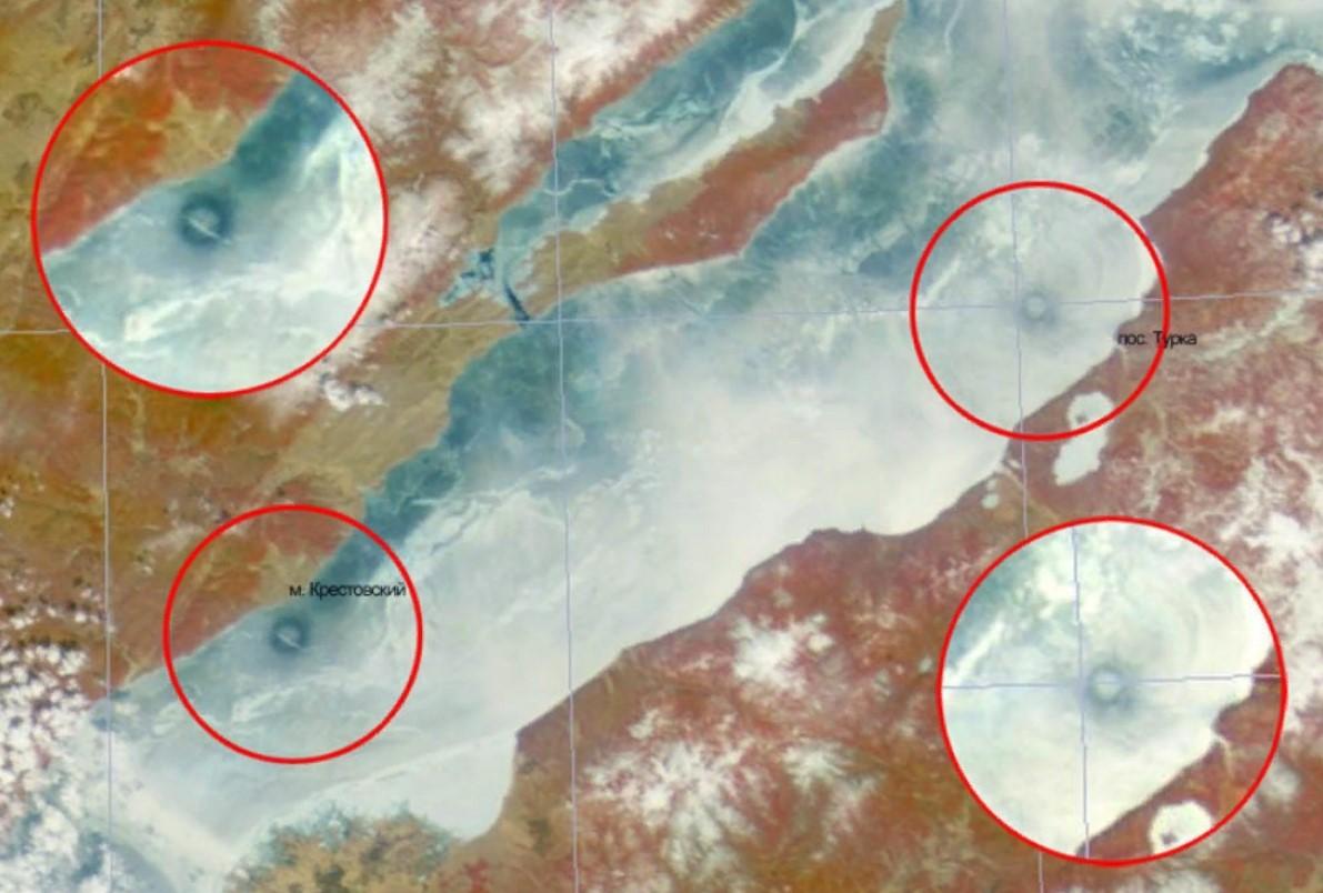 Байкал круги на льду