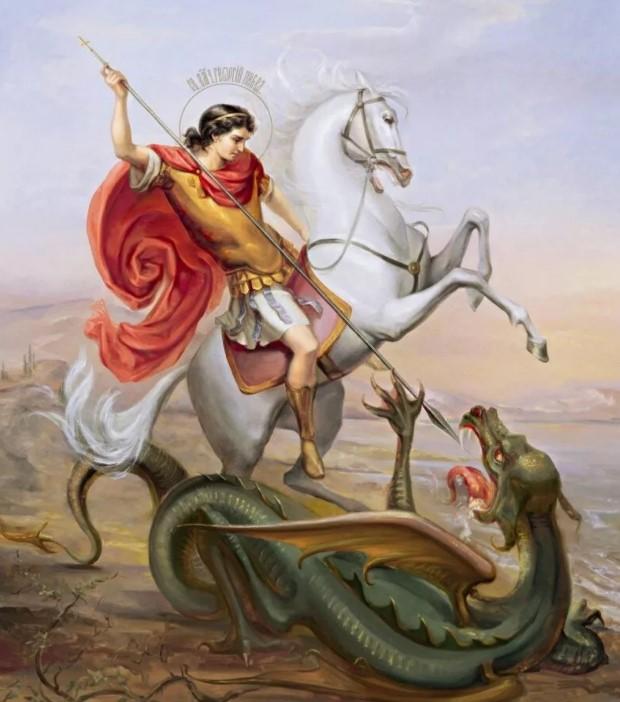 Георгий победоносец с драконом