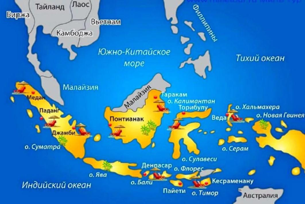 Индонезия карта