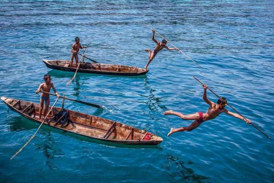 Индонезия ныряльщики