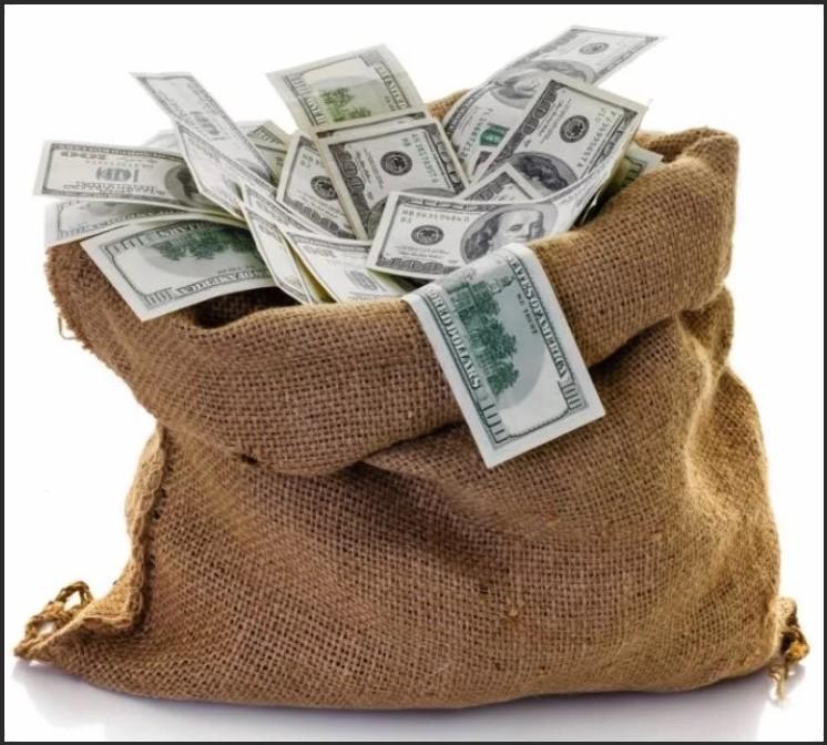 мешок с деньгами восне