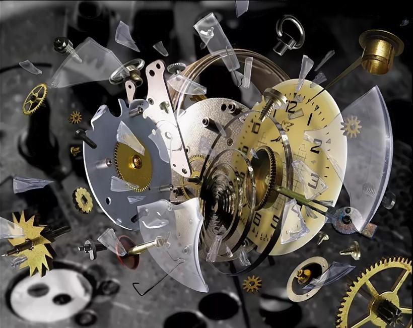часы вдребезги разбились