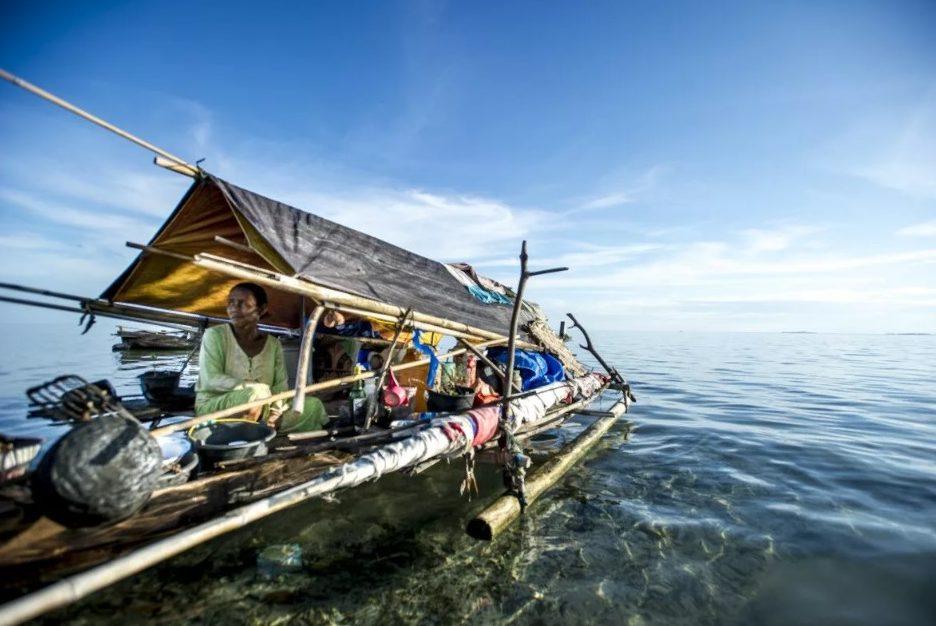 индонезия лодка-дом.