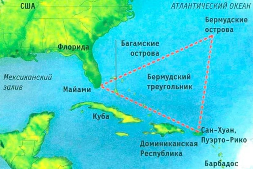 Почему исчезают корабли и самолеты в Бермудском треугольнике