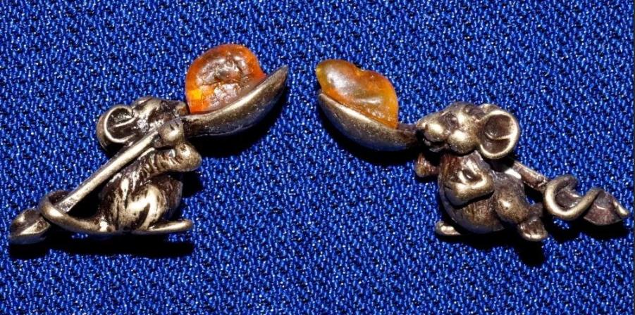 мышка с янтарем