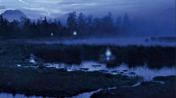 Блуждающие огни над болотом