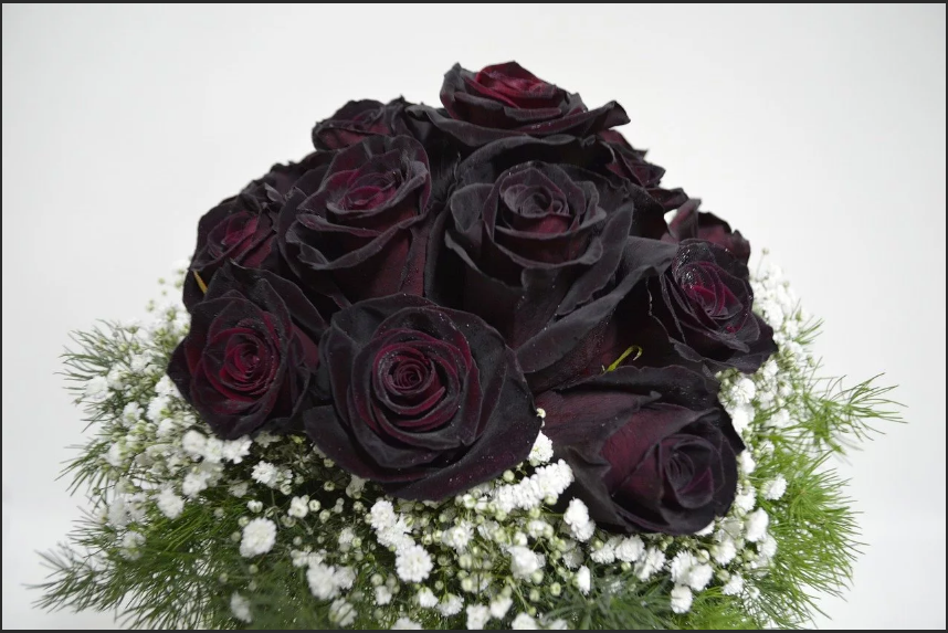 цветы на свадьбу черные розы
