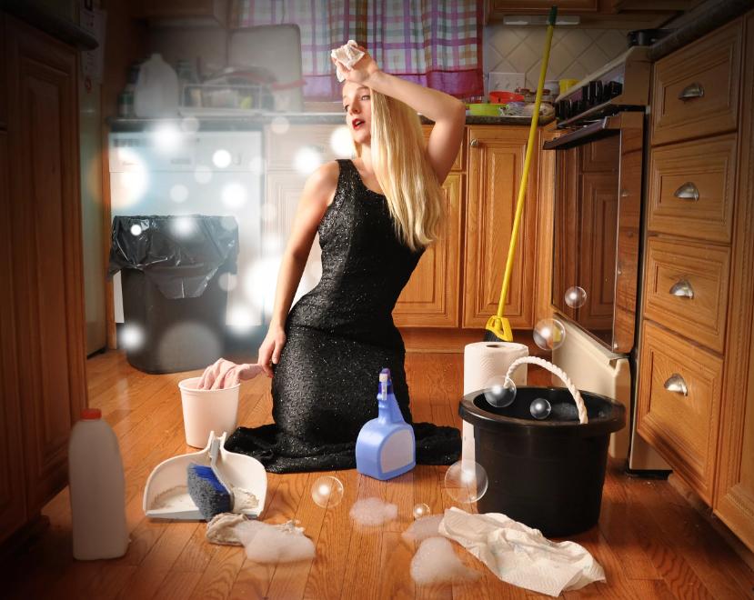 мыть полы на ночь