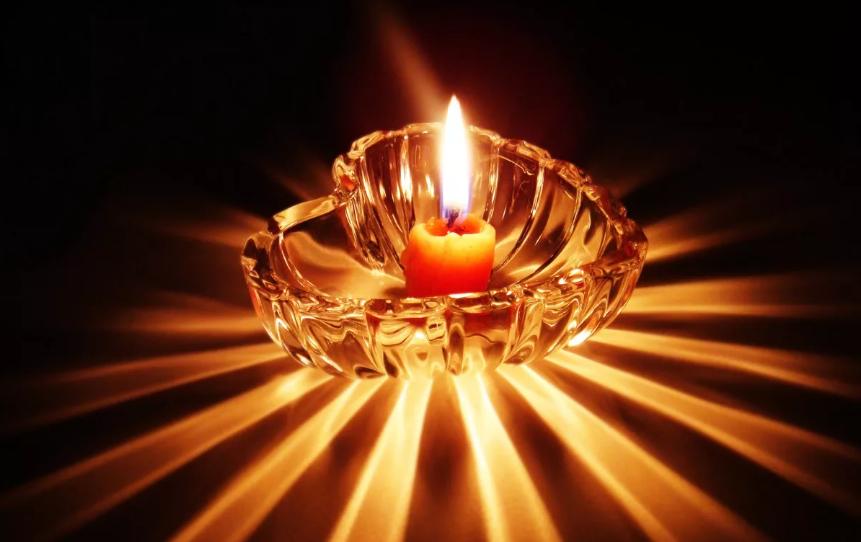 очищение горящей свечой