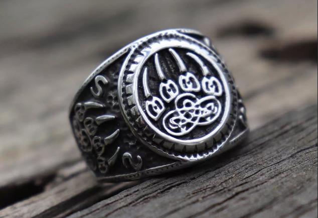 кольцо печать велеса медвежья лапа