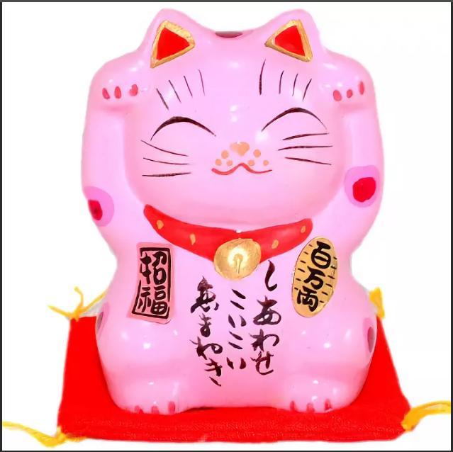 манэки-нэко розовый