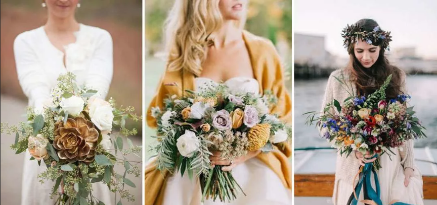 цветы на свадьбу в стиле бохо полевые цветы и колосья