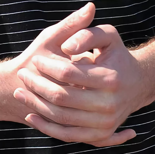 сцепленные пальцы
