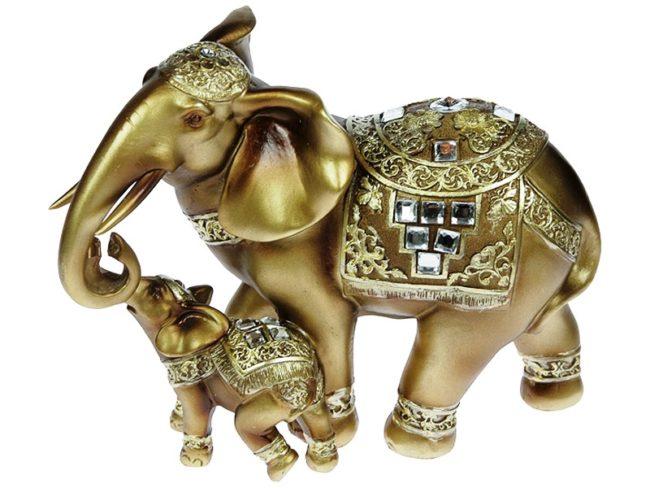 Статуэтка слонихи со слоненком
