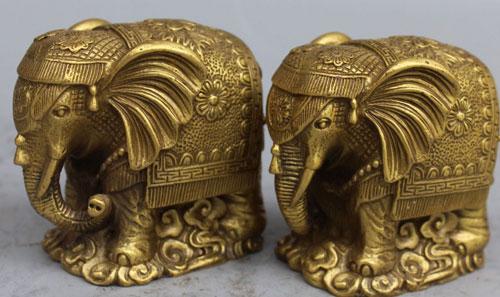 Парные статуэтки слонов