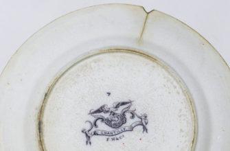 Лопнувшая тарелка со сколом