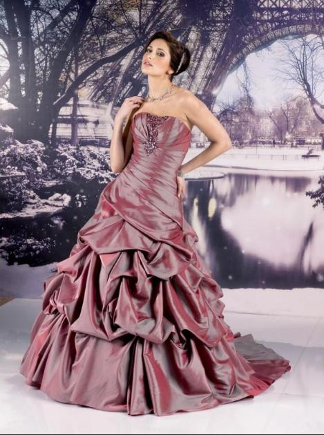 коричневое свадебное платье