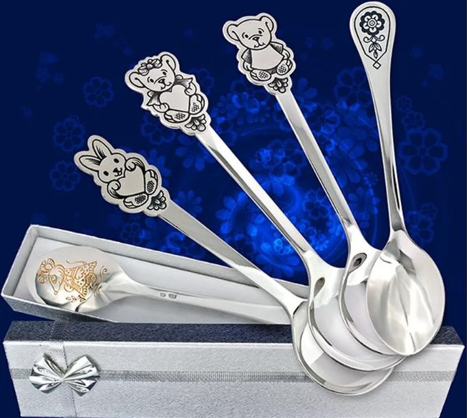 серебряные ложки для малышей