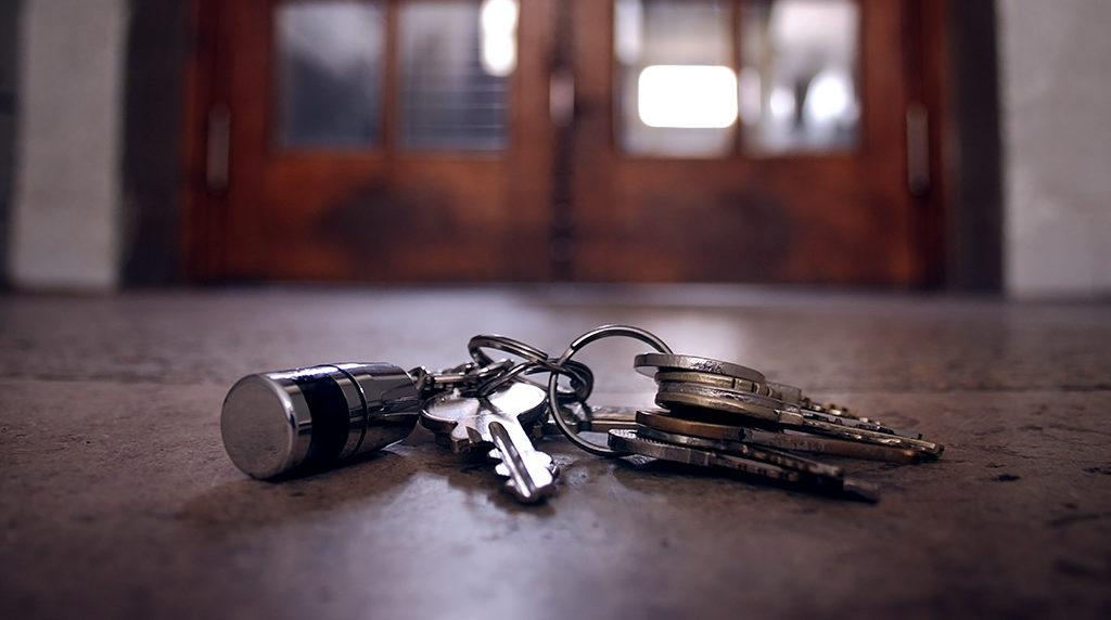 Упавшая связка ключей