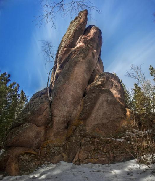 Чертов палец в заповеднике Красноярские столбы