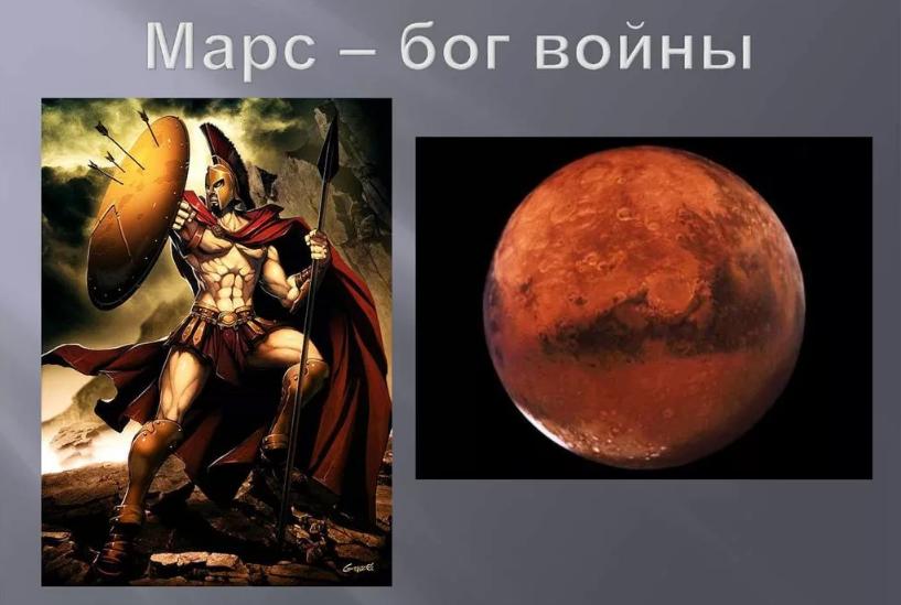 вторник - день Марса - бога войны