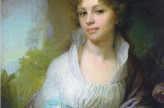 Мистический портрет Марии Лопухиной В. Боровиковского