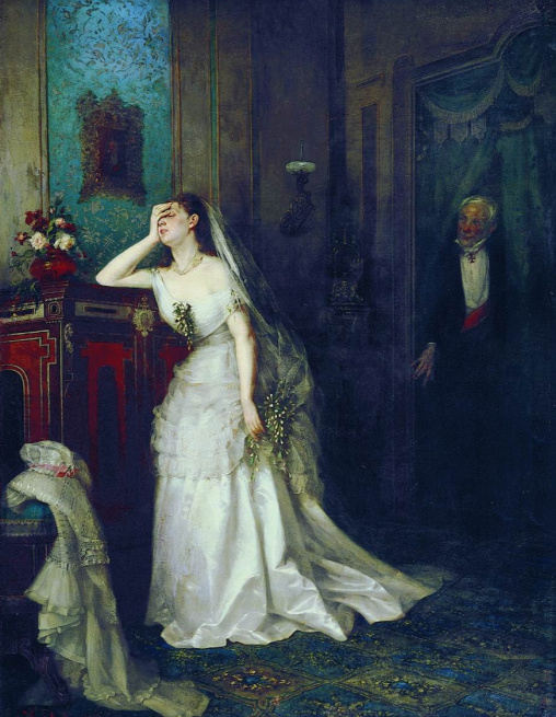 """Ф. Журавлев """"После свадебной церемонии""""."""