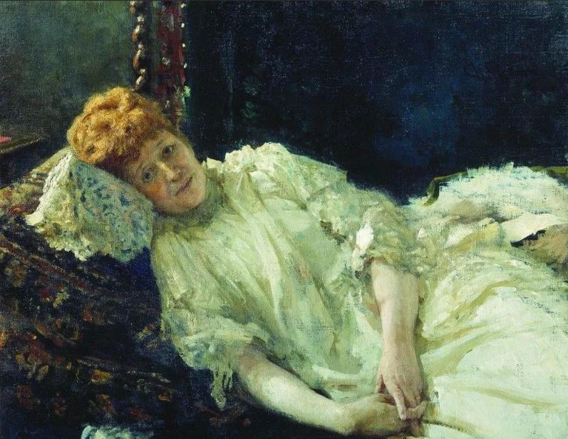 Илья Репин портрет пианистки Луизы де Мерси д`Аржанто.