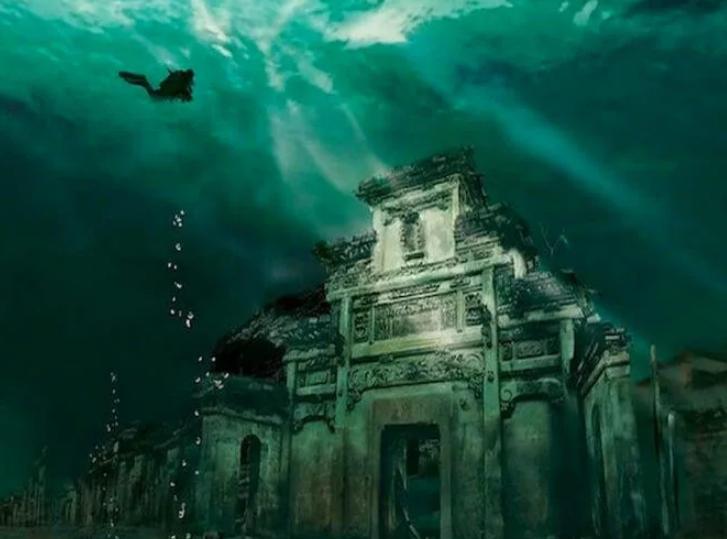 Китай подводный город Шичен