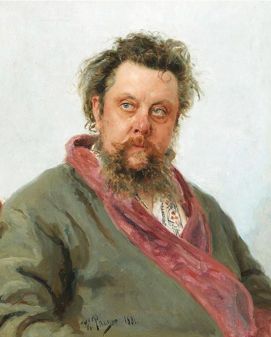 И. Репин портрет М. П. Мусоргского, 1881 г.