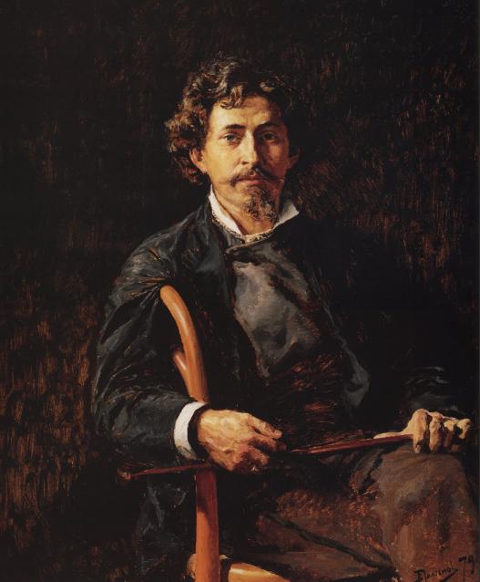 Илья Репин автопортрет. 1878 г.
