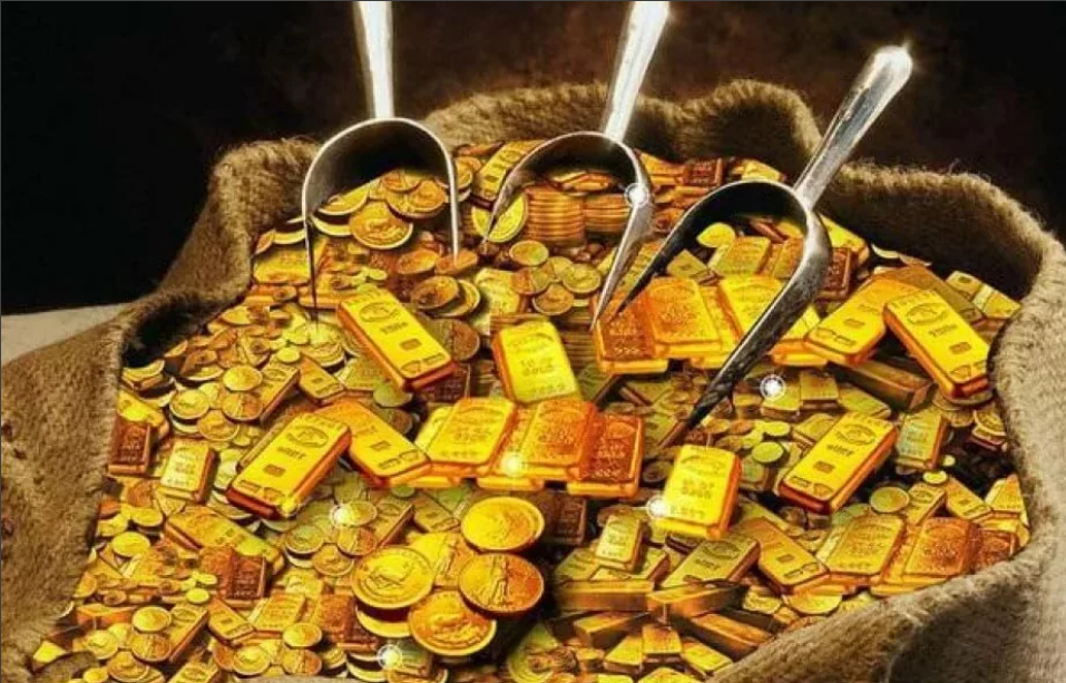 золото деньги грести лопатой