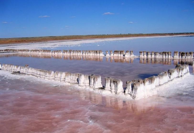 Озеро Эльтон собирали соль