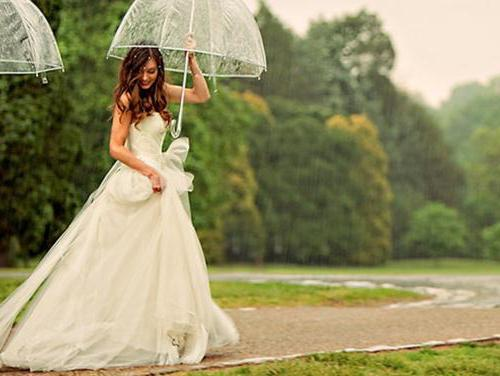 невеста с зонтиком