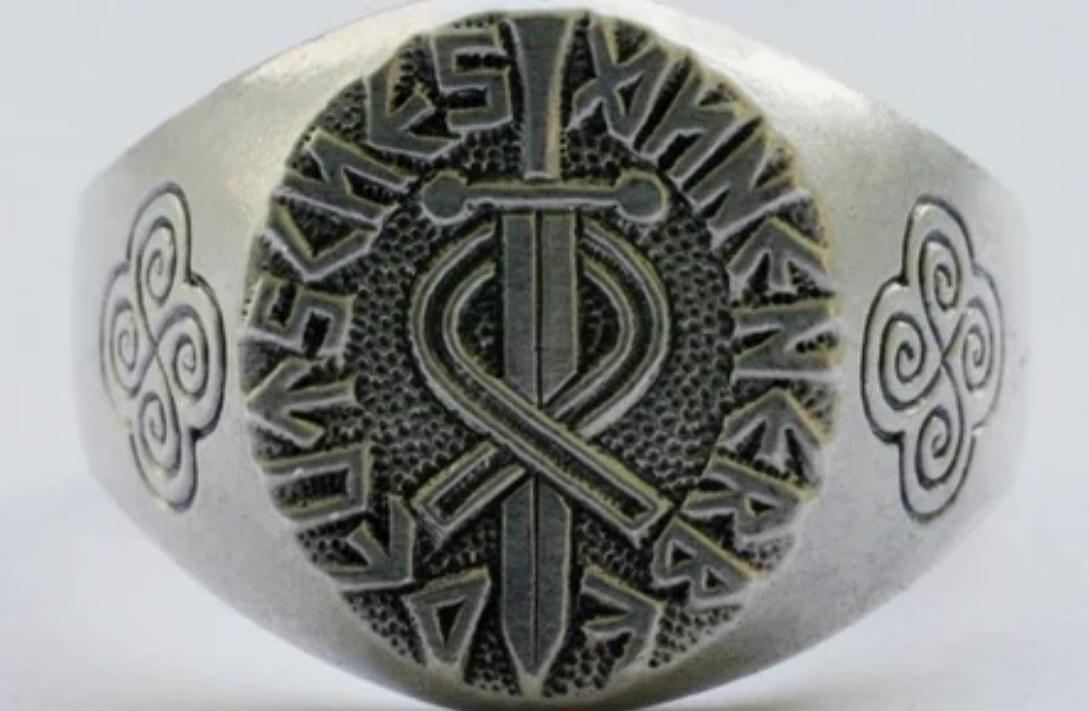 секретное кольцо немецкое с рунами